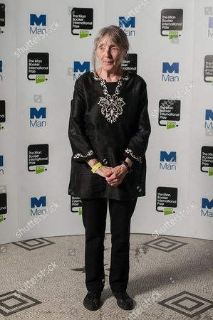 Stock Picture of Author Fanny Howe poses during a photo-shoot before the announcement of the 2015 Man Booker Prize winner at the Victoria and Albert Museum.