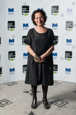 Stock Image of Author Hoda Barakat poses during a photo-shoot before the announcement of the 2015 Man Booker Prize winner at the Victoria and Albert Museum.