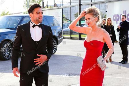 Radamel Falcao with wife Lorelei Taron