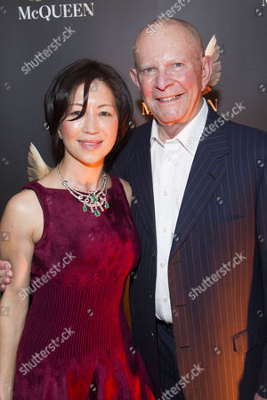 Stock Photo of Mokhiniso Smith and Wilbur Smith attend the after party for press night at St James Theatre