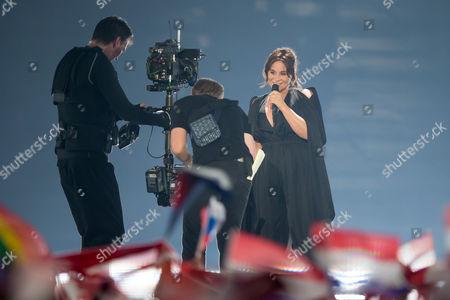 """Stock Photo of Trijntje Oosterhuis of Netherlands performs her song """"Walk Along"""""""