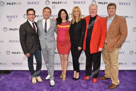 Stock Picture of Dan Bucatinsky, Michael Patrick King, Laura Silverman, Lisa Kudrow, Robert Michael Morris, Lance Barbera