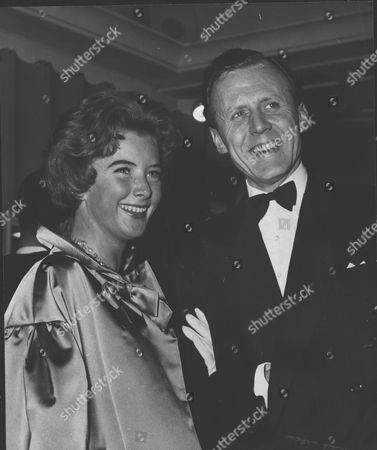 Actress June Thorburn And Fiancee Morten Smith-petersen At The Premiere Of The Film: Battle Of The Sexes At The Odeon Marble Arch. Box 0557 040315 00249a.jpg.