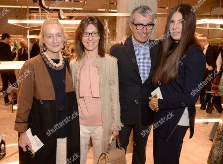 Lucinda Chambers, Giorgio Guidotti and Elisabeth Saltzman
