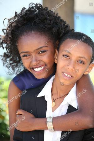 Stock Image of Kidist Seyoum and Rediat Amare