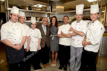 Michel Roux, Alain Roux, Pippa Middleton and chefs