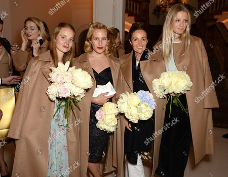 Petra Palumbo, Charlotte Dellal, Daniella Agnelli and Rebecca Corbin-Murray