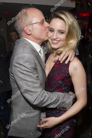 Stock Image of John Caird (Director) and Dianna Agron (Dahlia) attend the after party on Press Night for McQueen at St James Theatre