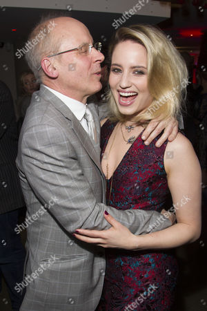 Stock Photo of John Caird (Director) and Dianna Agron (Dahlia) attend the after party on Press Night for McQueen at St James Theatre