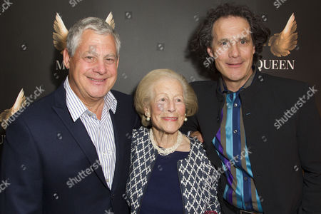 Cameron Mackintosh, Diana Mackintosh and Robert Mackintosh (Producer) attend the after party on Press Night for McQueen at St James Theatre
