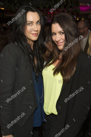 Kirsty Mitchell and Kate Magowan attend the after party on Press Night for McQueen at St James Theatre