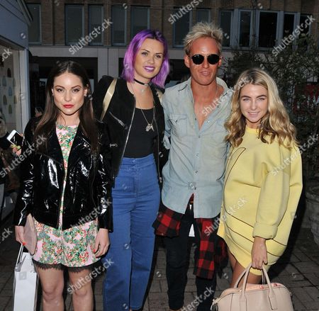 Louise Thompson, Emily Weller, Jamie Laing and Jess Woodley