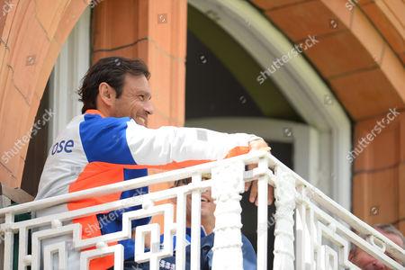 A smiling England batting coach, Mark Ramprakash