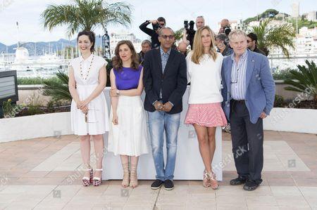 Rebecca Zlotowski, Joana Hadjithomas, Abderrahmane Sissako, Cecile de France and Daniel Olbrychski