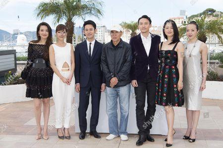Taiwanese actress Shu Qi, Taiwanese actress Nikki Hsin-Ying Hsieh, Japanese actor Satoshi Tsumabuki, Taiwanese director Hou Hsiao-Hsien, Taiwanese actor Chang Chen, Chinese actress Zhou Yun and Taiwanese actress Sheu Fang-Yi