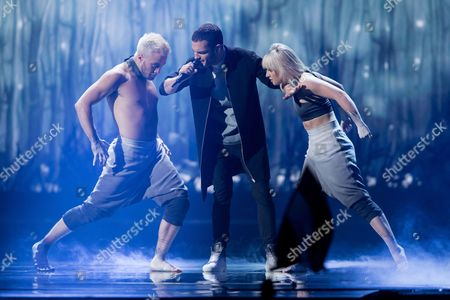 """Elnur Huseynov of Azerbaijan performs his song """"Hour of the Wolf"""""""