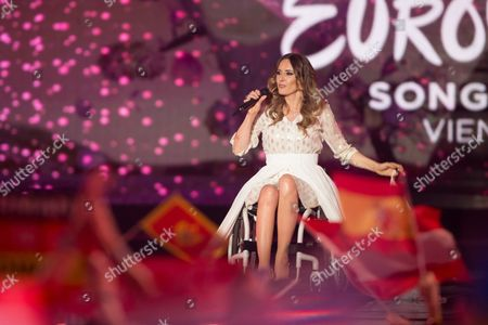 """Monika Kuszynska of Poland performs his song """"In the Name of Love"""""""