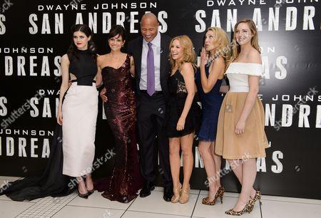 Alexandra Daddario, Carla Gugino, Dwayne Johnson, Kylie Minogue, Morgan Griffin