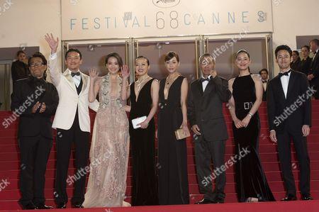 Chang Chen, Shu Qi, Sheu Fang-Yi, Hsieh Hsin-Ying, Hou Hsiao-Hsien, Zhou Yun and Satoshi Tsumabuki