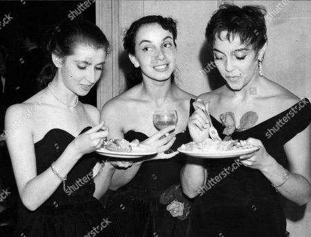 (l-r) Ballet Dancers Monica Schelling Andre Parizy And Liliane Montevecchi. *date Unknown* Box 0562 140515 00362a.jpg.
