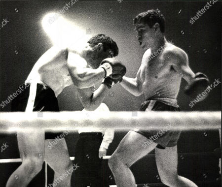 Editorial picture of Light-heavyweight Boxing Match: Terry Downes (right) V Mike Pusateri At Belle Vue Manchester. (for Full Caption See Version) Box 0563 140515 00356a.jpg.