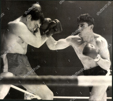 Light-heavyweight Boxing Match: Terry Downes (left) V Mike Pusateri At Belle Vue Manchester. Box 0563 140515 00357a.jpg.