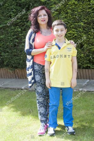 Ten Year Old Curtis Elton Who Has Been Rejected By Bgt Despite Receiving 4 'yes' Votes From The Judges With His Mother Hayley At Their Home In North London. 04.5.14 Reporter Simon Cable.