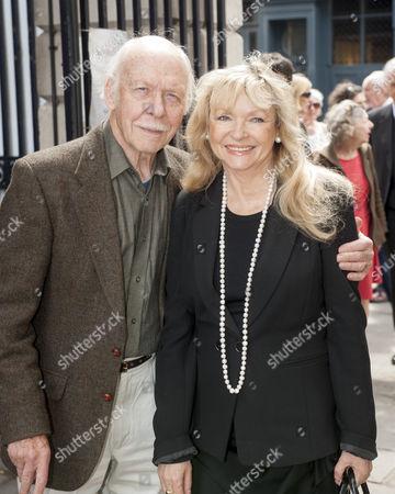 Tribute To Actor Bill Pertwee At A Memorial In London. Actor Brian Murphy And Wife Linda Regan. 14.5.14.