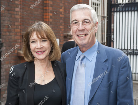 Tribute To Actor Bill Pertwee At A Memorial In London. Jeffrey Holland And Wife Judy Buxton. 14.5.14.