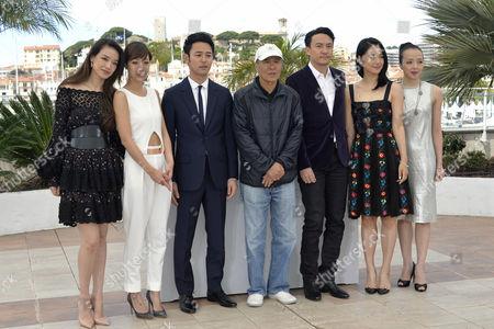 The director Hou Hsiao-Hsien, Shu Qi, Zhou Yun, Sheu Fang-Yi, Nikki Hsin-Ying Hsieh, Chang Chen, Satoshi Tsumabuki
