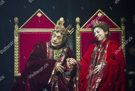 Stock Picture of Mikijiro Hira Shah as Claudius, Ran Ohtori as Gertrude