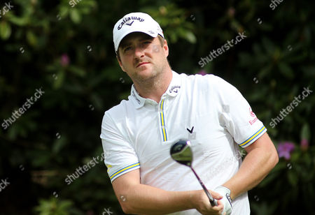 Mark Warren tees off the 7th hole during the second round of the BMW PGA Championship.