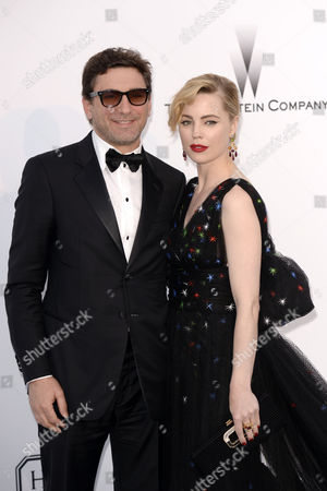Stock Image of Melissa George and Jean-David Blanc