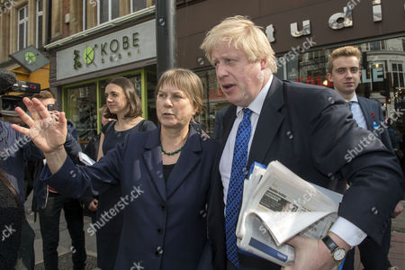 Angie Bray, Candidate for Ealing Central and Acton, and London Mayor Boris Johnson