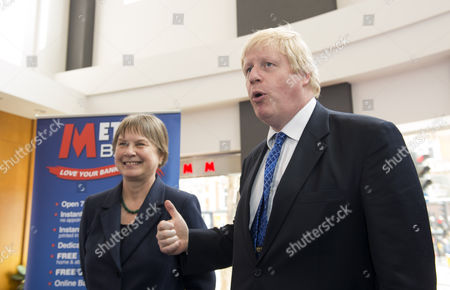 Stock Picture of Angie Bray, Candidate for Ealing Central and Acton, and London Mayor Boris Johnson