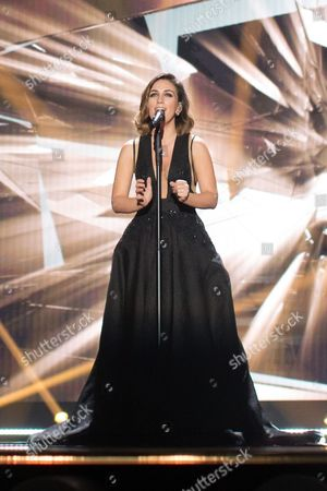 "Elhaida Dani of Albania performs her song ""I'm Alive"""