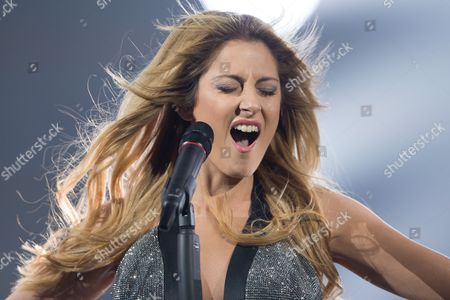 "Maria Elena Kyriakou of Greece performs her song ""One Last Breath"""
