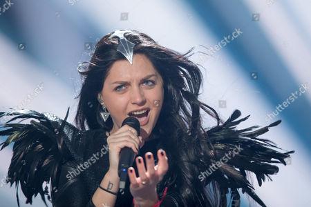 "Nina Sublatti of Georgia performs her song ""Warrior"""