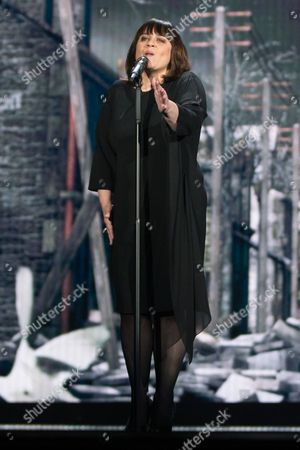 """Lisa Angell of France performs her Song """"N'oubliez pas"""" at the rehearsals of the grand final show of the Eurovision Song Contest 2015 in Vienna"""