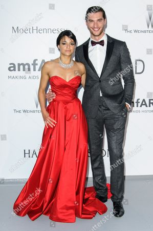 Stock Picture of Michelle Rodriguez and Aurelien Muller