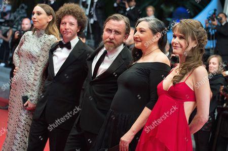 Nailea Norvind, Robin Bartlett, Tim Roth, Michel Franco and Sarah Sutherland