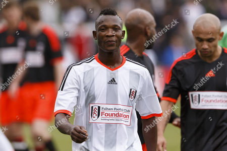 Fulham Legend John Pantsil at the Shooting Stars Chase Cup 2015 - Celebrity match against Fulham Legends