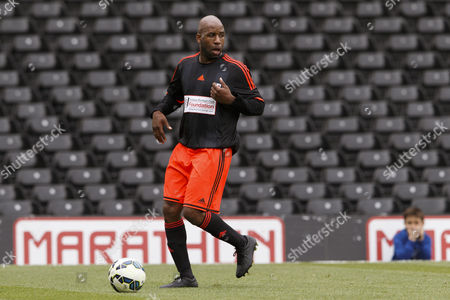 DJ Spoony at the Shooting Stars Chase Cup 2015 - Celebrity match against Fulham Legends