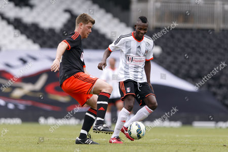 Fulham legend John Pantsil and Ryan Moore Shooting Stars Chase Cup 2015 - Celebrity match against Fulham Legends