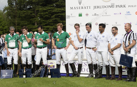 Editorial photo of Prince Harry plays in the Jerudong Park Polo Trophy at Cirencester Park, Britain - 24 May 2015