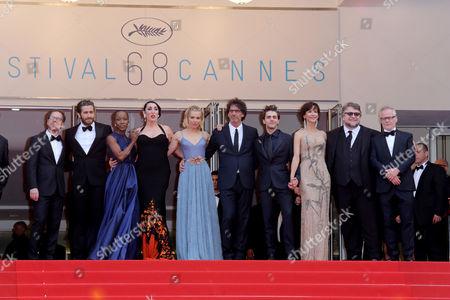 Guillermo Del Toro, Jake Gyllenhaal, Joel Coen, Sophie Marceau, Rossy De Palma, Sienna Miller, Xavier Dolan, Ethan Coen and Rokia Traore