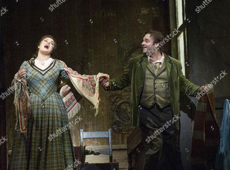 Joseph Calleja as Rodolfo, Anna Netrebko as Mimi,