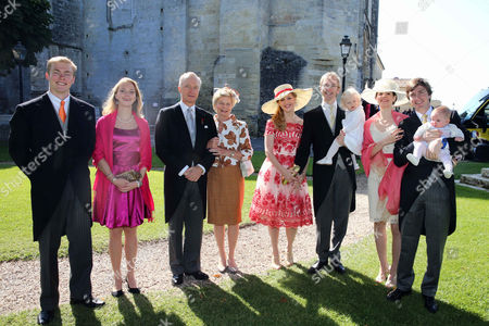 Editorial image of The wedding of Caroline von Neipperg and Philippe von Limburg Stirum, Saint Emilion, France - 23 May 2015