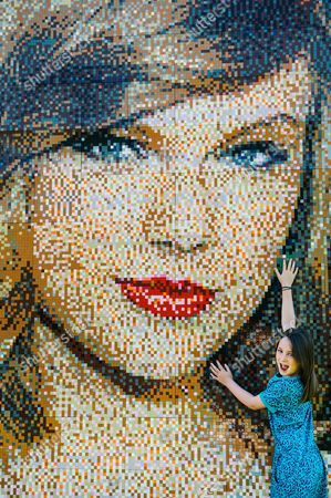 Olivia Davies age 8 with the mosaic
