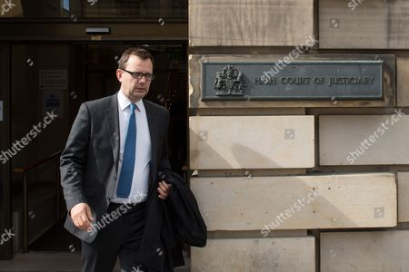 Former News of the World editor Andy Coulson leaving Edinburgh's High Court